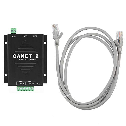 Convertidor de interfaz CANET-2 Ethernet a CAN, Adaptador de datos CAN-Bus a LAN TCP/IP de 2 vías, Compatible con el equipo ZLG CANET-200T