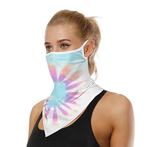Bandanas de tinte para mujer, multifuncionales pasamontañas contra el viento polvo protección solar deportes al aire libre Ciclismo Headwear bufanda cuello calentador