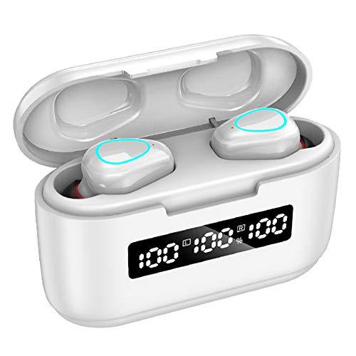 KAIYAN Kabellose In-Ear-Kopfhörer, Upgrade Bluetooth 5.1, Touch-Steuerung, In-Ear-Kopfhörer mit Ladehülle, aktive Geräuschunterdrückung, HD-Anrufe, wasserdicht, 3 LED-Display, In-Ear-Kopfhörer