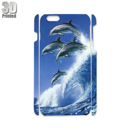 Dolphin Custom Hard Back 3D Cover Case for iPhone 6 4.7''