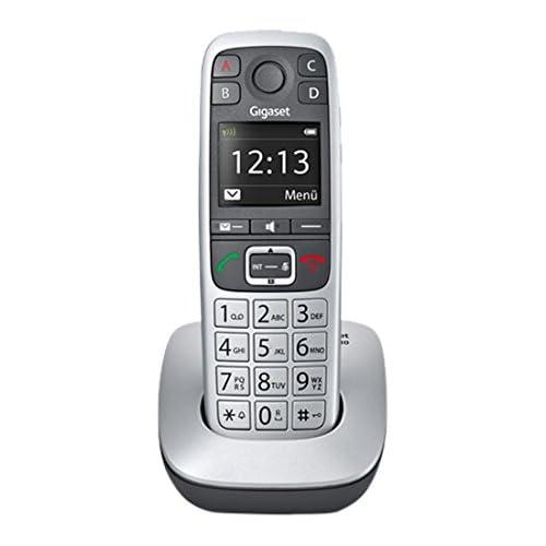 Gigaset E560 Telefono Cordless, Tasti Grandi, Numeri sul Display Grandi, Tastiera Illuminata, Suonerie e Audio Potenziato, Tasto SOS, Grigio [Italia]