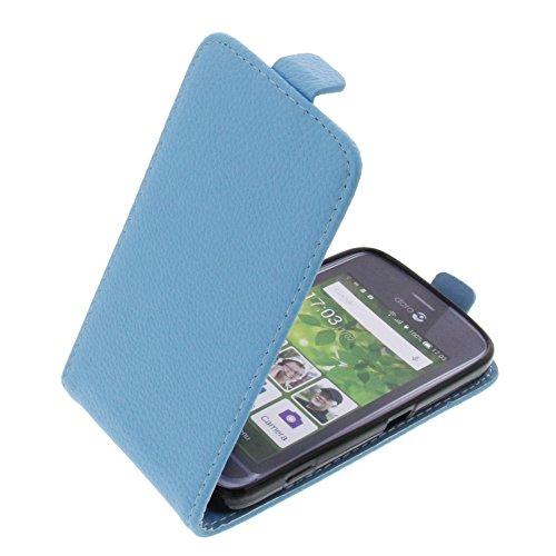 foto-kontor Tasche für Doro Liberto 820 Mini Smartphone Flipstyle Schutz Hülle hellblau