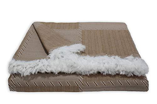Colcha Multiusos para Sofa, Manta Foulard, Plaid, cubrecama. (Cuero, 230x290)