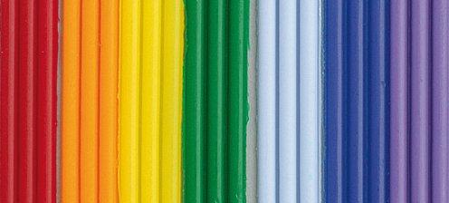 efco Wachsstreifen, 200x 2mm, Regenbogenfarben, 21Stück