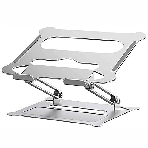 Unicornio - Soporte universal para ordenador portátil, aluminio, resistente, ventilado, altura ajustable, soporte vertical para ordenador portátil, soporte plegable