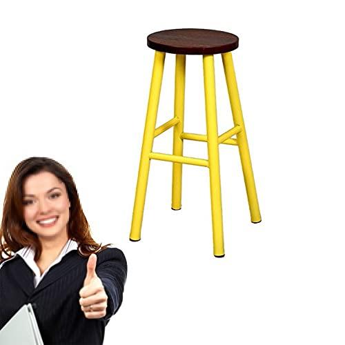 ZXZXZX Taburete de Bar Taburetes Altos Silla de Cocina Vintage de Madera Estilo Individual Chair Marco de Acero Resistente Asiento de 75cm de Alto Fácil Montaje para Jardín