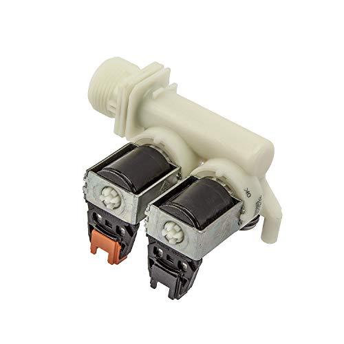 MIRTUX Elektroventil 2-Wege-Eingang, 220 V für Waschmaschinen Fagor, Edesa Diestrich, Mastercook (siehe kompatible Modelle).