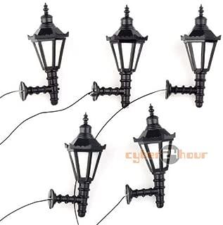 FidgetKute 5pcs Model Railway Led Lamppost Lamps Wall Lgihts G Scale 3V New