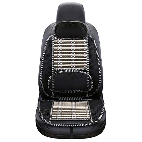 LZRDZSWYXGS Hukphd Car Interior Massage Breathable Cushion Summer Cooling Lumbar Universal Car Wire Seat Cushion Support Cool Pad Car Styling, Easy to Install