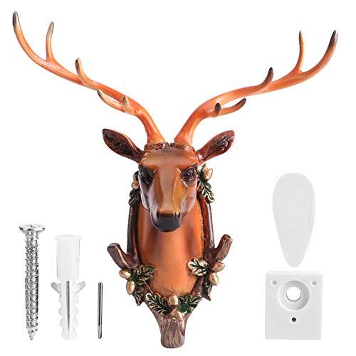 Gancho para ropa, gancho para decoración del hogar, gancho para baño, gancho para baño, gancho para toalla, gancho para(Deer head (retro))