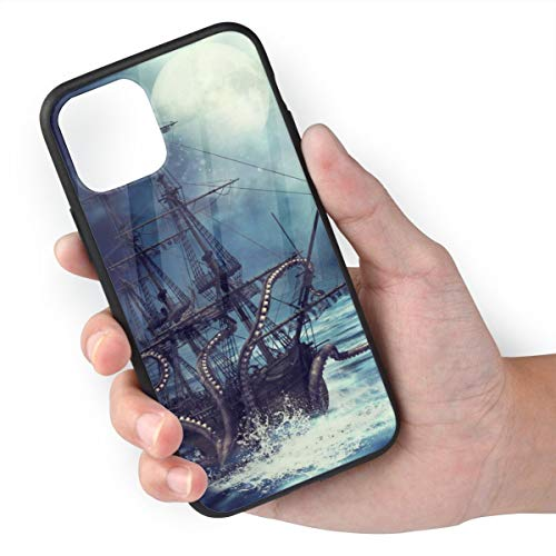 海賊船の夜景 IPhone 11 ケース TPU背面PC材質 9H硬度加工 薄型 滑り止め 全面保護 耐衝撃IPhone 11 Pro 加工 黄ばみなし レンズ保護 衝撃吸収 耐傷性 カメラ保護IPhone 11 Pro Max 軽量 Qi急速充電対応 スマホケース 6.1 5.8 6.5インチ