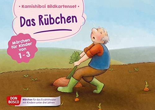 Das Rübchen. Kamishibai Bildkartenset.: Märchen für Kinder von 1-3 (Märchen für das Erzähltheater mit Kindern unter drei Jahren)