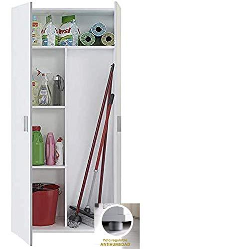 clasificación y comparación HABITMOBEL Mueble multiusos blanco, altura 190, a prueba de humedad (ancho 78 cm) para casa