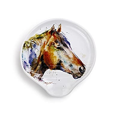 Demdaco 3005051169 Big Sky Carvers Good Lookin' Horse Spoon Rest, Multicolored