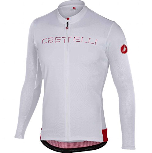 Castelli Maillot De Ciclismo De Manga Larga 2018 Prologo V Fz Blanco (S, Blanco)