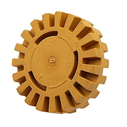 LFDHSF Sägeblätter Gummischleifscheibe, Polieren von Autoreifen, 25MM Pneumatisches Entschleimungsrad Polieren Radwerkzeug, 2 Stück
