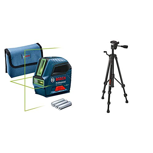 Bosch Professional Livella Laser GLL 2-10 G, Amazon Edition + Bosch Professional Treppiede BT 150