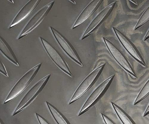 Alu Riffelblech, Alu Riffelblech Duett 1,5/2,0 mm stark, Blechstreifen, 1500 x 100 mm Warzenblech Alu,Blech entgratet