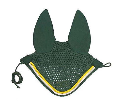 Derby Originals Paris Tack Show Crochet Fly Veils/Ear Nets, Green, Full