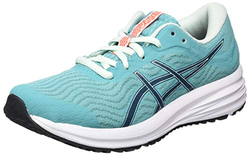 ASICS Damen Patriot 12 Running Shoe, Techno Cyan/Magnetic Blue, 40 EU