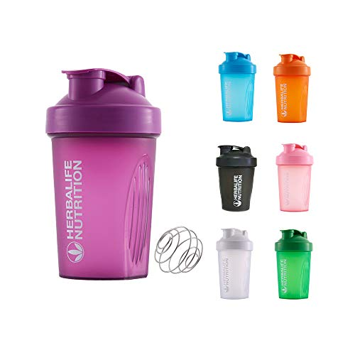 Horen - Botella coctelera de 400 ml, taza coctelera de proteínas, contenedor de almacenamiento para proteínas o suplementos, regalo perfecto para gimnasio y fitness morado
