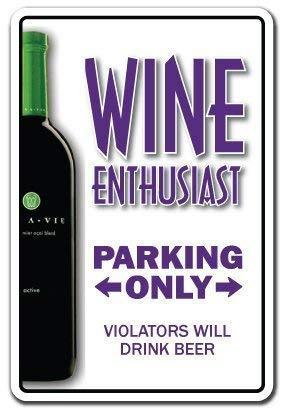 IUBBKI Cartel de metal de 20,3 x 30,4 cm, para decoración del hogar, signo de entusiastas de Wino Vidrio, bebedero, bodega, amante del vino, signo de metal para signos de aluminio al aire libre