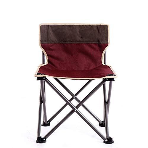 Allibuy-Sport Portable Léger Pliable Camping Chaise Léger Potable extérieur Chaise Pliante Camping pêche Siège de Voyage Easy Set Up Assemblée pêche Pique-Nique (Color : Red, Size : 37x37x58cm)