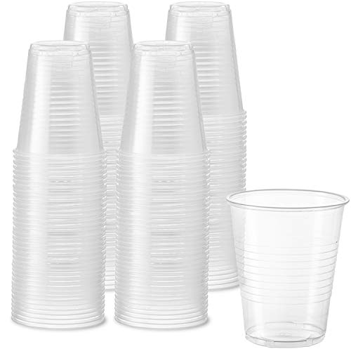 240 Pack  12 oz Clear Disposable Plastic Cups  Cold Party Drinking Cups