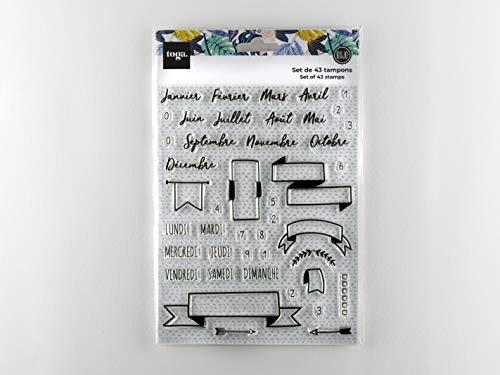 DRAEGER PARIS 1886 Bullet journal Tampon siliconne transparents, 14 x 18 cm