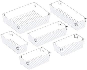 2-Pack Puroma Desk Drawer Organizer Trays