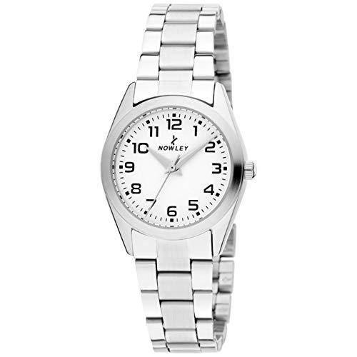 Reloj Nowley 8-7017-0-0 - Reloj de Acero Inoxidable y Esfera en Blanco