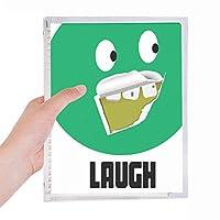 緑の悪い歯残渣笑い 硬質プラスチックルーズリーフノートノート