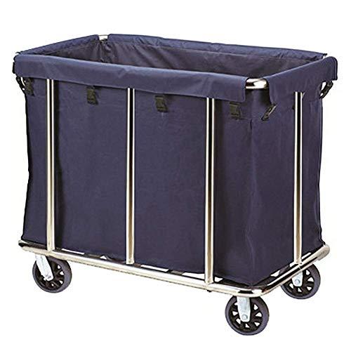 CART Haushaltsmedizinische Versorgungswagen Handwagen Schwerlast-Wäschesortierwagen mit Rädern, gewerblicher Industrie-Hotel-Zimmerservice Wäschewagen mit abnehmbarer Tasche Mobiler Werkzeugwagen