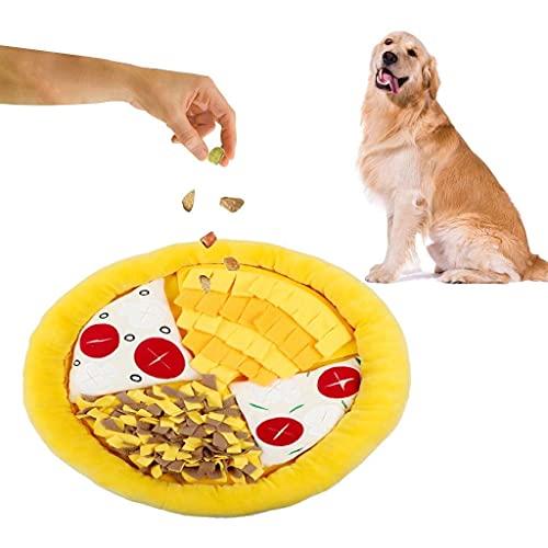 Unique pet bed Hund Schnupper Matte Haustier Schnüffeln Training Hund Schnappmatte Töne Interactive Puzzle Spielzeug Nosework Decke Abnehmbare Fleece Pad zum Füttern Hunde Welpen 12 (Farbe: weiß)