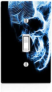 Trendy Accessories Neon Skull Image Single Light Switch Cover Plate (not Decal)