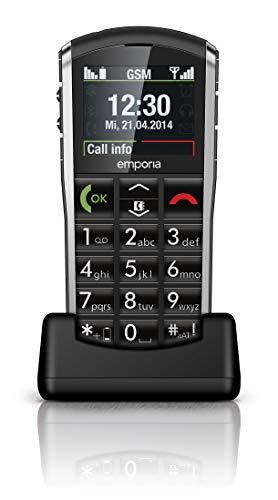 "Emporia Pure - Teléfono móvil (5,08 cm (2""), FSTN, Single SIM, gsm, 900, 1800 MHz, Polifónico) Negro, Gris"