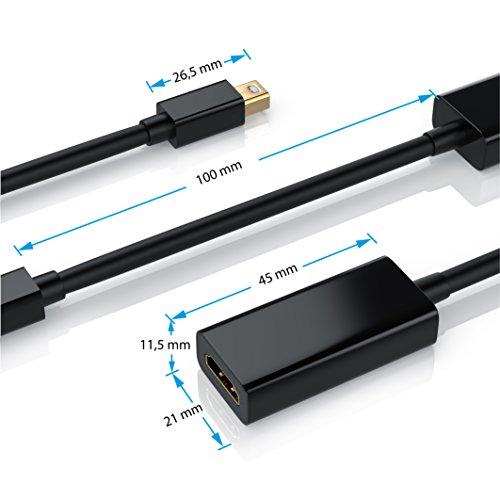 CSL - Mini Displayport auf HDMI Adapter Full HD - inkl. Tonübertragung - Kompatibel mit Thunderbolt 1- und Thunderbolt 2-Ports - Full HD HDTV 1080p - kompatibel mit Apple Lenovo Surface