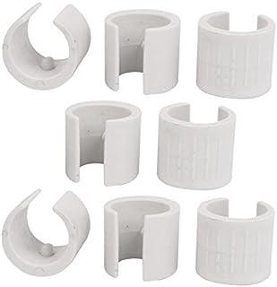 eDealMax Silla de 22mm Dia abrazadera de tubo Redondo Antislilp cojines del Pie plástico 8pcs