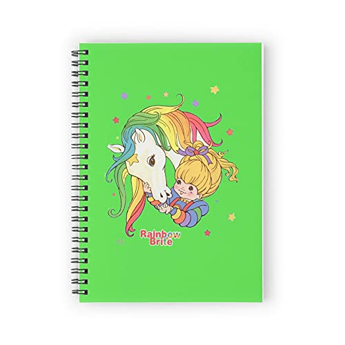 """Rainbow Brite Essential Spiral Notebooks, 5.5"""" X 8.3"""", Strong Twin-Wire Binding, Premium Paper, 80 Sheets / 160 pages Perfect for School, Office & Home"""