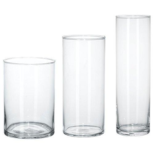 ★シリンデル / CYLINDER 花瓶3点セット / クリアガラス[イケア]IKEA(60175214)