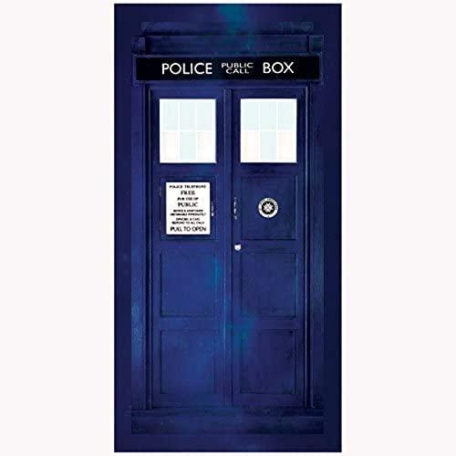 QWAS Toalla de baño de Doctor Who, toalla de playa, impresión 3D, absorbente, 2,70 x 140 cm