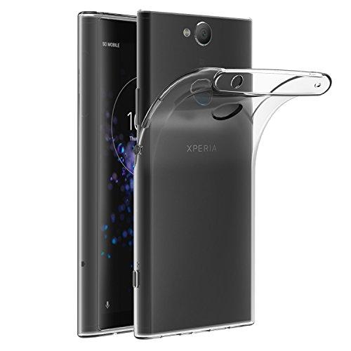ivoler Hülle Hülle Kompatibel für Sony Xperia XA2 Plus, Premium Transparent Klare Tasche Schutzhülle Weiche TPU Silikon Gel Handyhülle Schmaler Cover
