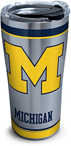 Tervis Michigan Wolverines Tradition Stainless Steel Tumbler with Lid, 20 oz, Silver
