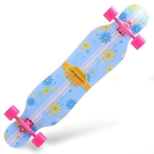 Nfudishpu Longboards Skateboard-42 'Pro Small Longboard Carving Cruising Skateboard-für Erwachsene Jugend Kind Anfänger Mädchen und Jungen T-Tool enthalten