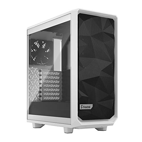 """Fractal Design Meshify 2 Compact White TG Clear Tint - Mid-Tower - White - Tempered Glass, Steel, Mesh - 6 x Bay - 3 x 4.72, 5.51"""" x Fan(s) Installed - 0 - ATX, Mini ATX, Mini ITX Motherbo"""
