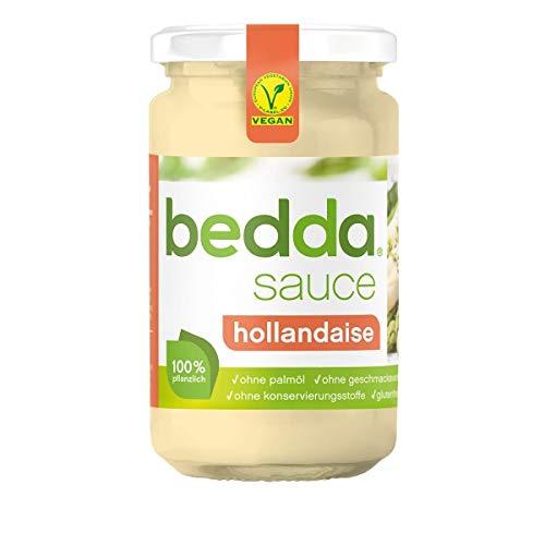 bedda SAUCE HOLLANDAISE, 230ml | VEGAN | Vegane Hollandaise Soße | Laktosefrei, Glutenfrei, ohne Soja, Pflanzlich