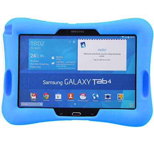 NEWSTYLE Shock Proof Case Light Weight Kids Super Protection Cover with Audio Amplifier Design For Samsung Galaxy Tab 4 10.1-inch Tablet SM-T530/T531/T535 (Blue)