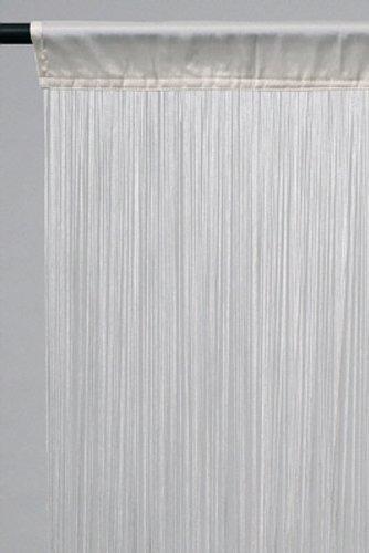 Unbekannt Fadenvorhang weiss ca. 140 breit x 250 cm hoch mit Tunnelzug