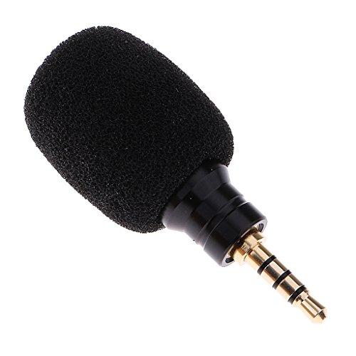 Dovewill Mini Professional Condenser Microphone Mic Record for Mobile Phone iPhone Laptop Black