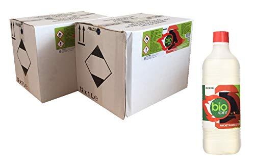 24x Bioetanolo da 1 lt combustibile liquido ecologico naturale inodore per camino stufa biocamino BIOSPRINT